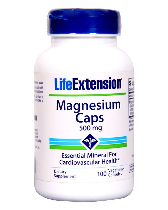 Magnesium Vegetarian Capsules, 500 mg, 100 Count