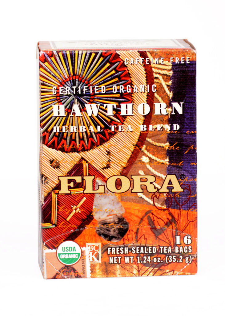 FLORA Hawthorn 16 Tea Bags - (For High Blood Pressure)