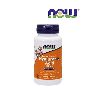 Hyaluronic Acid, Double Strength 100 mg Veg Capsules - For Joint Lubricant.