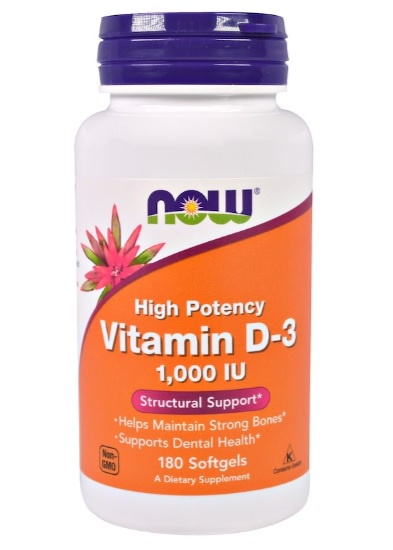 Vitamin D-3 1000 IU Softgels - For Strong Bones and Immune Booster