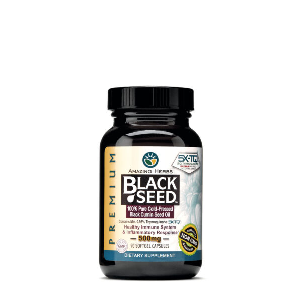 Black Seed Capsules(Amazing Herb) - For Allergy & Respiratory Support