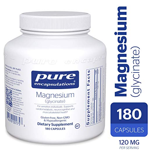 Magnesium (Glycinate) -  Supports Enzymatic and Physiological Functions(180caps)